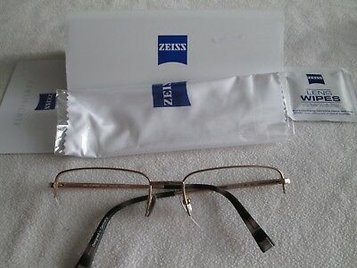 Zeiss gold Titanium glasses frames. ZS-40009. With case.