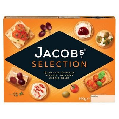 6x Jacob's Crackers Biscuit For Cheese 300g