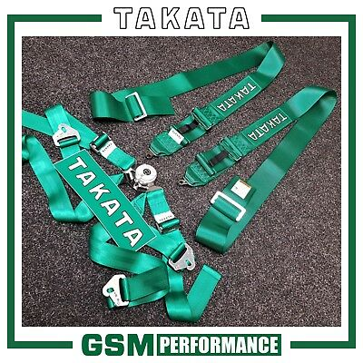 Genuine Takata British Racing Green 3X2 Harness / 94004-H2