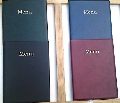 Qty 1 A4 Leather Look Menu Holder/folder/cover  New Product --Nylon Reinforced