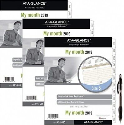 At-A-Glance Day Runner Monthly Planner Refill, January 2019 - December 2019, 3pk