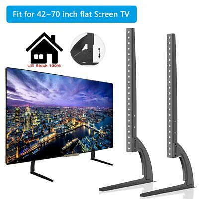 Universal Led Lcd Flat Screen Tv Table Top Stand Base Fits 42 To