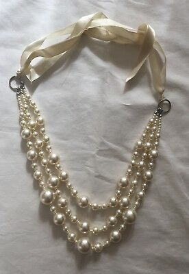 LADIES VINTAGE LARGE FAUX PEARL NECKLACE – Circa 1930's to 1940's 18th Century