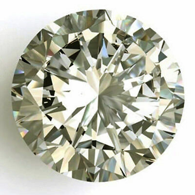 Loose Moissanite Off White Yellow Color 0.52 TO 2.73 CT (VVS1-VS2) Round Cut