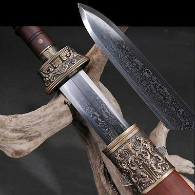 Warring States Periods STY Sword Hand Forged pattern steel Sharp Blad #1771