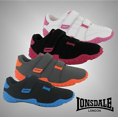 Kids Boys Girls Lonsdale Stylish Casual Durable Fulham Trainers Shoes