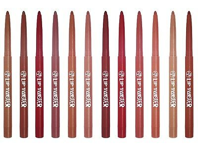 W7 Lip Twister Lip Liner Pencil - Various Shades Available Nude Pink Berry Red