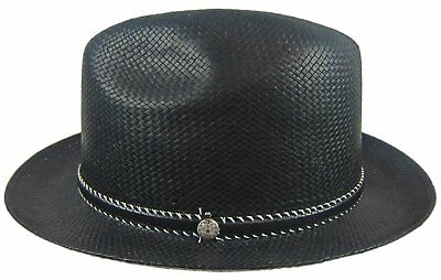 b0e662c133d STETSON MEN S SIZE MEDIUM Fedora Hat Uxbridge toyo straw NEW ...