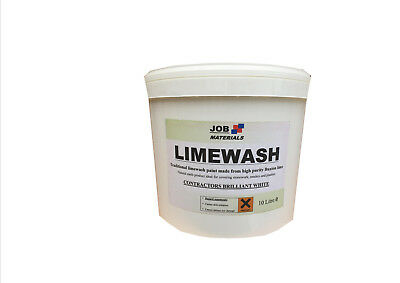 Brand New TRADITIONAL LIME WASH PAINT WHITE WASH 10 Ltr contractors white