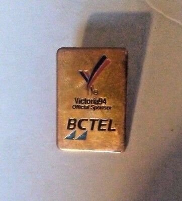 Vintage BCTEL Victoria 94 Official Lapel Pin Commonwealth games