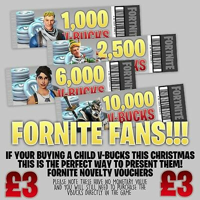 Fortnite V Bucks Xbox Ps4 Gift Voucher