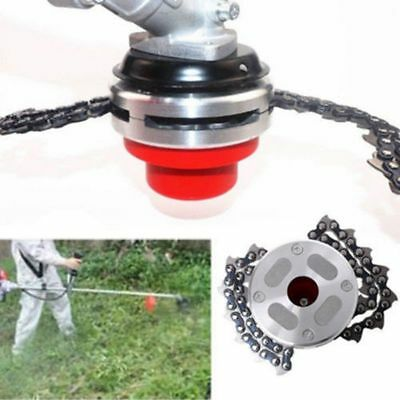 65Mn Garden Grass Trimmer Head Coil Chain Brush Cutter Set Fit Lawn Mower