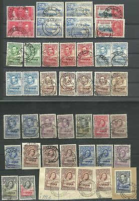 (122)  Bechuananland 1938/ 61 small group of KG V,  QEII  with clear postmarks