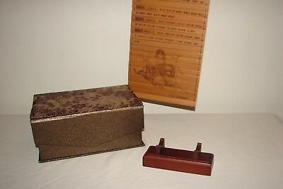 The Art of War Bamboo Scroll with Box and Display Stand