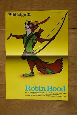 Micky Maus Klub Bildfolge 31: Robin Hood TOP-Zustand PAYPAL