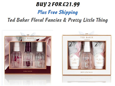 2 x Ted Baker Christmas Floral Fancies & Pretty Little Things Trio Gift Set Her