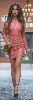 New Genuine Best Quality Lamb Skin Dress Real Vintage Women Leather MS 09