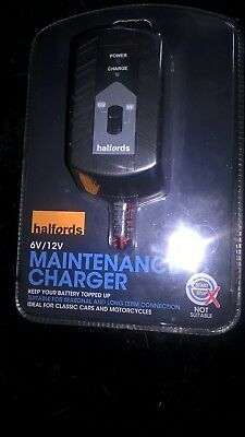 Halfords   6V  12V   Maintenance    Charger     750M  A