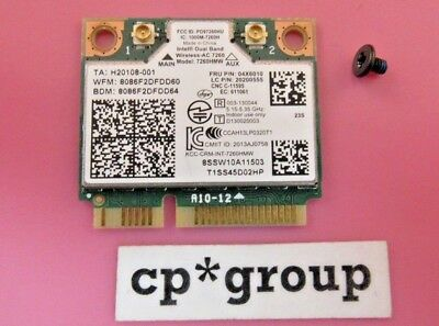 Genuine Lenovo Intel 7260 AC Dual Band WiFi + BT 4.0 WLAN Card 04X6010 7260HMW