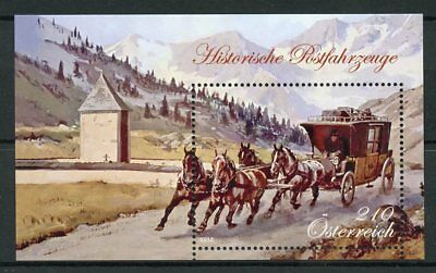 Austria 2018 MNH Horse Drawn Passenger Coach 1v M/S Mountains Horses Stamps