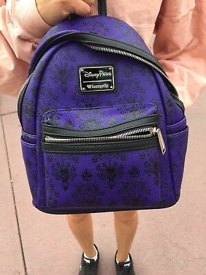 Disney Parks Haunted Mansion Loungefly Mini Backpack Disneyland IN HAND