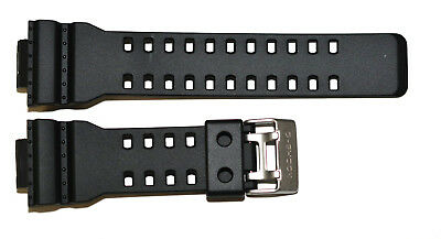 Original Casio G-Shock GDF100-1 GDF100BB-1 16mm black rubber watch band strap