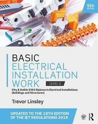 Basic Electrical Installation Work by Trevor Linsley Paperback Book Free Shippin