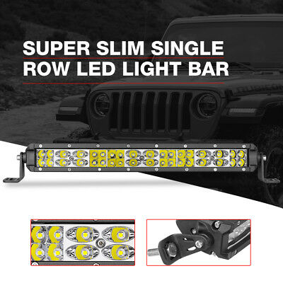 12inch Single Row LED Light Bar Combo 108W Super Slim Fog Driving Ford Jeep Ram