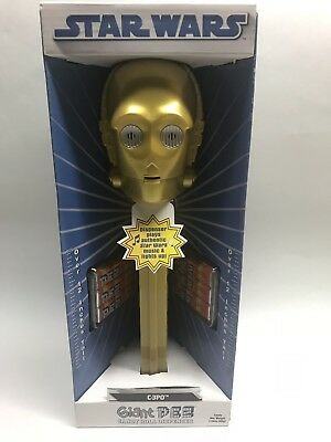 Star Wars GIANT PEZ C-3PO plays Star Wars MUSIC & LIGHTS UP! 12 In Tall 2009 NEW