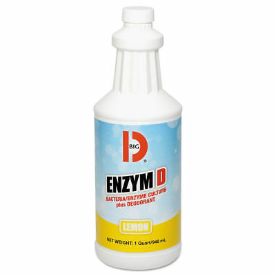 Big D Industries Enzym D Digester Liquid Deodorant, Lemon, 32oz, 12/carton  500