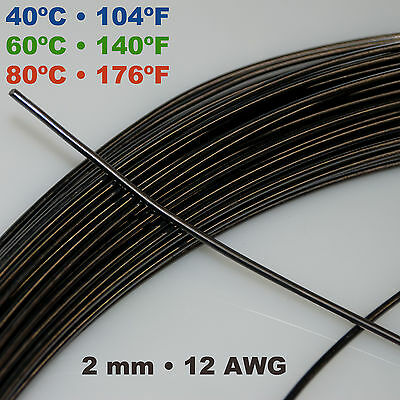 Nitinol NiTi SMA muscle wire 1 - 2 mm 40/60/80º C Shape Memory Alloy by the foot