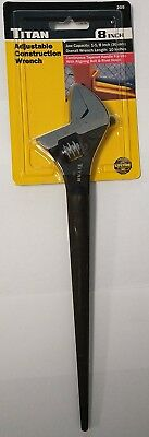 "Titan 209 8"" Mini Spud Adjustable Wrench"