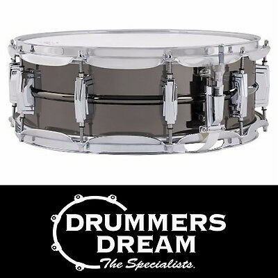 """Ludwig Black Beauty 14"""" x 5"""" Snare Drum with Smooth Shell Imperial Lugs"""