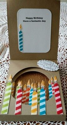 Handmade Unusual Birthday Card male or female with lots of candles