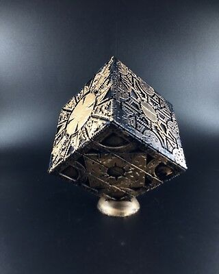 Custom Weathered Hellraiser Puzzle Box Prop Replica With Stand Lament &Star Conf