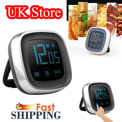 Digital LCD Touch Screen Timer Magnetic Countdown Count UP Alarm Home Kitchen UK