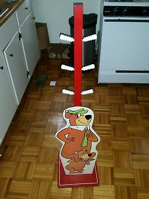 1960s Vintage YOGI BEAR & BOO BOO Child's Hat & Coat Rack + HOW TALL AM I?