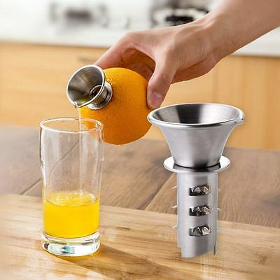 Juicer Hand Press Drill Lemon Orange Lime Squeezer Stainless Steel 2*4.5*7cm