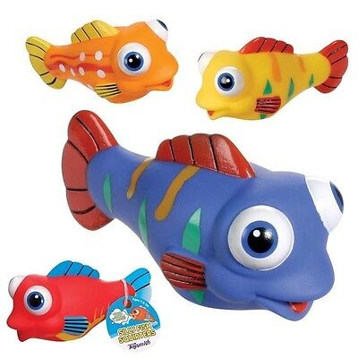 4 Silly Fish Water Squirters Bath Tub Toy