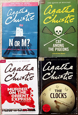 Agatha Christie lot of 4 Large Format Books with Murder on the Orient Express