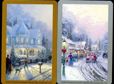 Beautiful Thomas Kinkade Swap Cards  In The Snow New Condition
