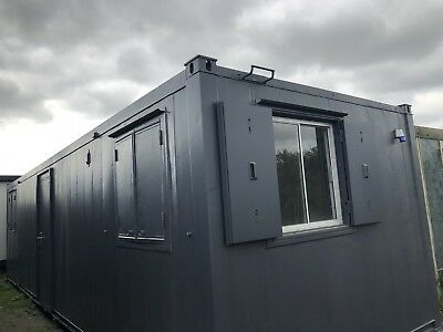 32ft x10ft  Anti Vandal Double Office Portable Site Canteen Container