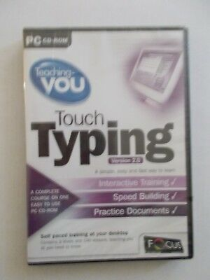 - Teaching You Touch Typing [Version 2.0] Pc Cd-Rom (New Sealed) Now $22.75