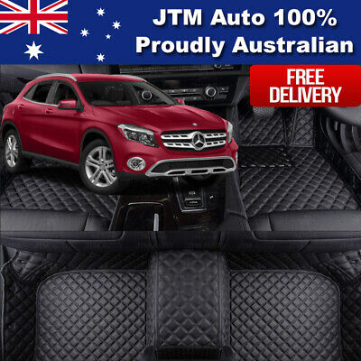 Custom Made to suit Mercedes Benz GLA Floor Mats Front + Rear Black 2014-2019