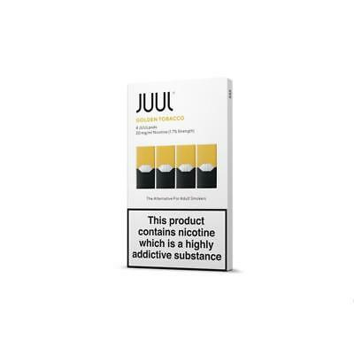 JUUL - GOLDEN TOBACCO PODS - 4 PACK, 1.7%  (20mg of nicotine) free delivery.