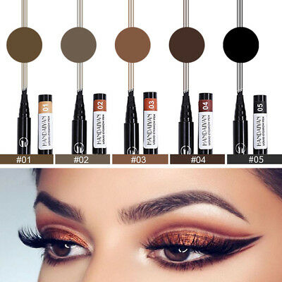 4 Fork Tip Eyebrow Tattoo Pen Waterproof Lasting Microblading Ink Sketch Make-Up