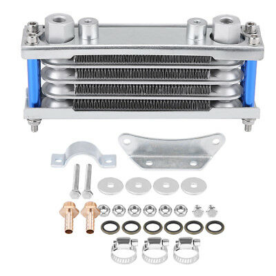 Universal Engine Oil Cooler Cooling Radiator For Motorcycle Dirt Bike 50CC-200CC