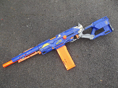 Nerf Long Strike CS-6 Sniper Rifle, With 4 Magazines, NO darts