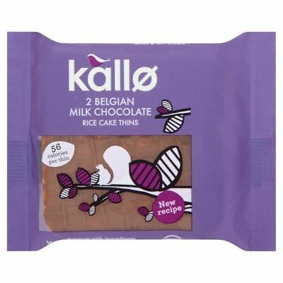 4x Kallo Milk Chocolate Rice Cake Thins Portion Pack 23g