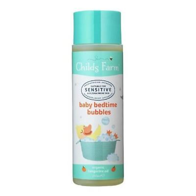 4x Childs Farm Baby Bedtime Bubbles Organic Tangerine 250ml